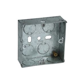 Axiom Electrical Metal Switch Box 16mm (Pack 20)