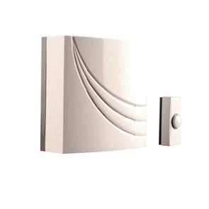 Byron 761 Wired Wall Mounted Electronic Doorbell with 8 Melodies
