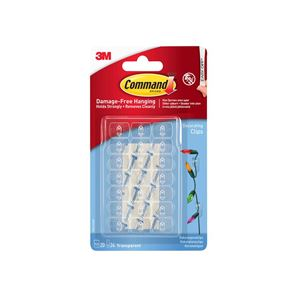 Command™ Clear Decorating Clips with Clear Strips (Pack 20)