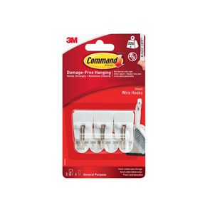 Command™ White Wire Hooks