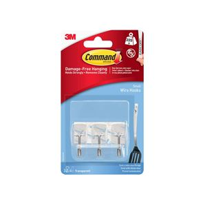 Command™ Clear Wire Hooks