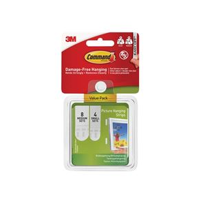 Command™ Picture Hanging Strips Set, Small & Medium (Pack 12)