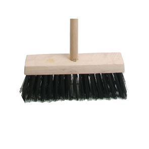 Faithfull Broom PVC 325mm (13in) Head complete with Handle