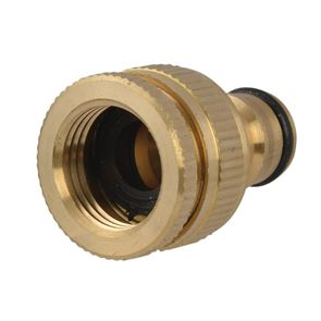 Faithfull Brass Dual Tap Connector 12.5-19mm (1/2 - 3/4in)
