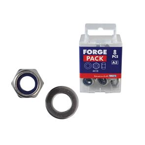 ForgeFix Hexagonal Nuts with Nylon Inserts, S/S