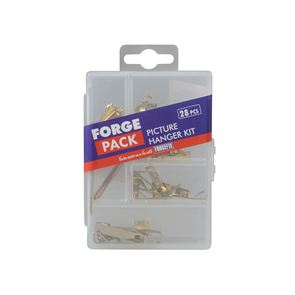 ForgeFix Picture Hook Kit ForgePack, 28 Piece