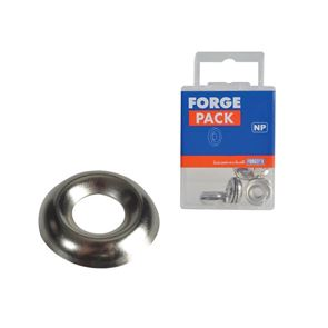 ForgeFix Screw Cup Washers, Nickel Plated
