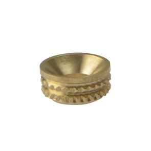ForgeFix Screw Cup Sockets Solid Brass Polished No. 8 Bag 100