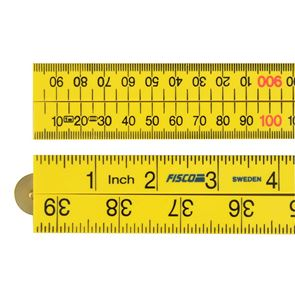 Fisco Yellow ABS Nylon Rule 1m / 39in