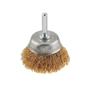 KWB Crimped Brass Wire Cup Brush 50mm Fine