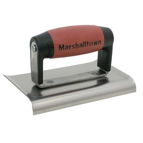 Marshalltown M136D Cement Edger Curved End DuraSoft® Handle 6 x 3in