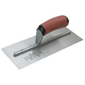 Marshalltown M701SD V 3/16in Notched Trowel DuraSoft® Handle 11 x 4.1/2in