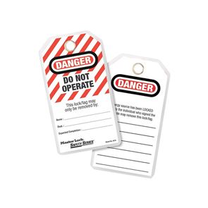 Master Lock Lockout Tags (12) - DANGER DO NOT OPERATE
