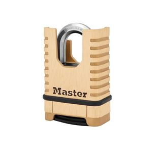 Master Lock Excell™ Closed Shackle Brass Combination 58mm Padlock