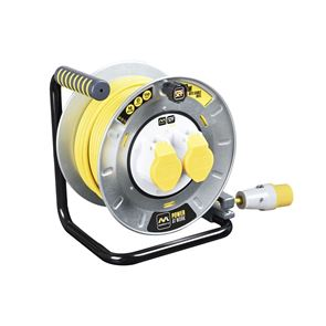 Masterplug PRO-XT Metal Cable Reel 110V 16A Thermal Cut-Out 30m