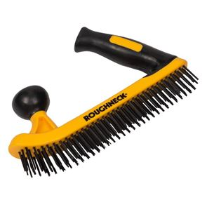 Roughneck Two-Handed Wire Brush Soft-Grip