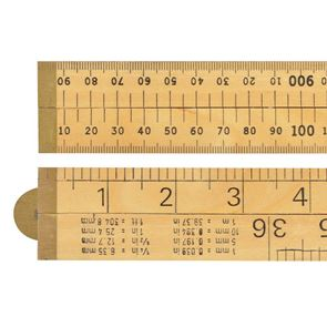R.S.T. Wooden 4 Fold Rule 1m / 39in (Blister packed)