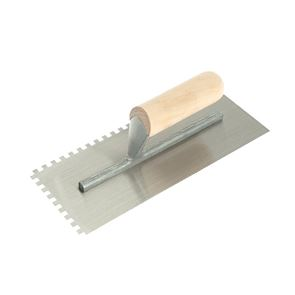 R.S.T. Notched Trowel 6mm Square Notches Wooden Handle 11 x 4.1/2in