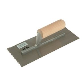 R.S.T. Notched Trowel 5mm V Notches Wooden Handle 11 x 4.1/2in