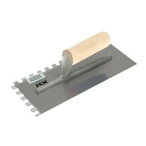 R.S.T. Notched Trowel 10mm Square Notches Wooden Handle 11 x 4.1/2in