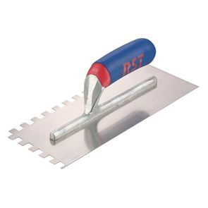 R.S.T. Notched Trowel Square 10mm² Soft Touch Handle 11 x 4.1/2in