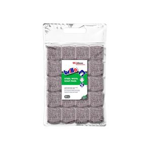 SC Johnson Professional Brillo® Steel Wool Soap Pads (Pack 20)