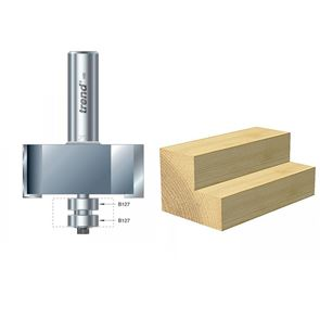 Trend 46/390 x 1/2 TCT Bearing Guided Rebater 22.5mm x 50.8mm